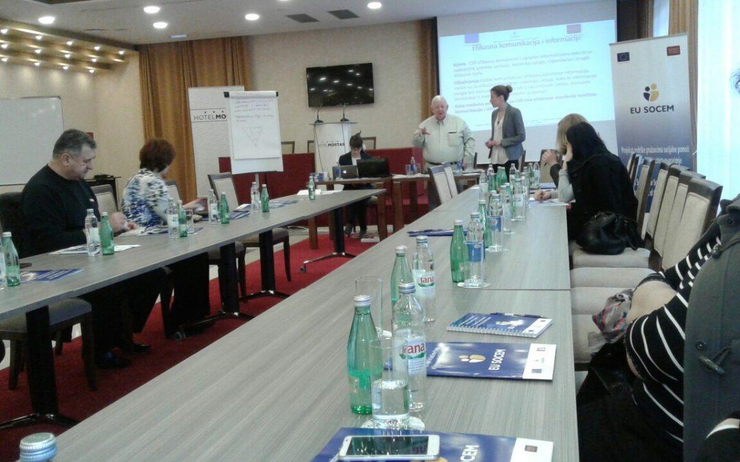 """U okviru IPA projekta Delegacije EU,EU SOCEM organizirao prvi seminar na Temu """"Poboljšanje standarda kvaliteta i upravljanje predmetima"""""""